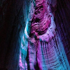Photo taken at Ruby Falls Haunted Caverns by Bill F. on 4/27/2013