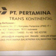 Photo taken at PT.Pertamina Trans Kontinental Cabang Balikpapan by Erin Nur W. on 6/17/2013