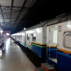 Photo taken at Stasiun Rantauprapat by Argo P. on 3/21/2015