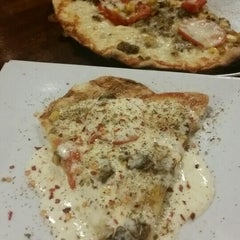 Photo taken at Bagby Pizza Co. by Hiba E. on 9/20/2015
