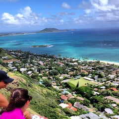 Photo taken at Lanikai Pillboxes Hike by Scott R. on 5/26/2013