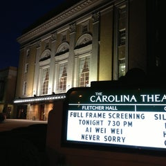 Photo taken at Carolina Theatre Of Durham by Ryan B. on 1/15/2013