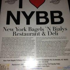 Photo taken at New York Bagels `N Bialy Restaurant & Deli by Jordan K. on 3/24/2013