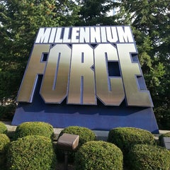 Photo taken at Millennium Force by Derek J. on 9/1/2013