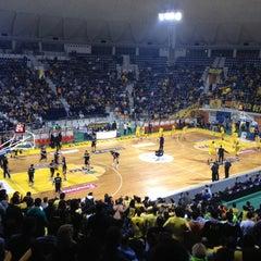 Photo taken at Αλεξάνδρειο Μέλαθρον (Palais des Sports) by Andrew P. on 11/24/2012