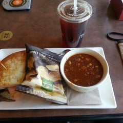 Photo taken at Panera Bread by Chanel V. on 3/17/2015