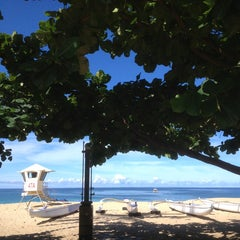 Photo taken at Makaha Beach Park by Lika J. on 7/6/2013
