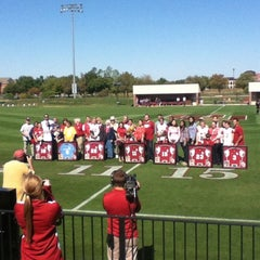 Photo taken at John Crain Field at the OU Soccer Complex by Sean B. on 10/14/2012