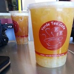 Photo taken at Verde Tea Cafe by Tram H. on 5/1/2013