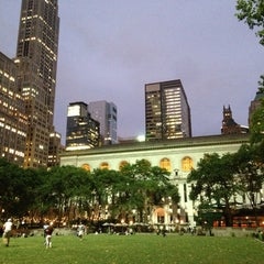 Photo taken at Bryant Park by Young Eun Grace L. on 7/26/2013