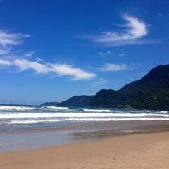 Photo taken at Praia de Guaecá by Carolina L. on 2/24/2013