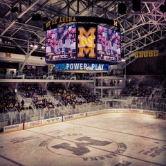 Photo taken at Yost Ice Arena by Brandon B. on 1/9/2013