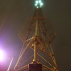 Photo taken at Moonlight Tower (11th & Trinity) by Stephen F. on 3/10/2013