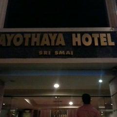 Photo taken at โรงแรมอโยธยา (Ayothaya Hotel) by nattipat s. on 5/28/2013