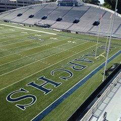 Photo taken at Foreman Field at S.B. Ballard Stadium by Mark H. on 9/24/2013