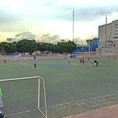 Photo taken at Cancha de Futbol de la Delegación Benito Juarez by Ernesto L. on 3/16/2013