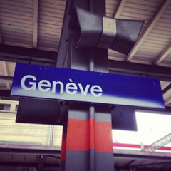 Photo taken at Gare de Genève Cornavin by Lidia S. on 5/6/2013