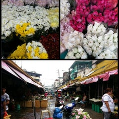 Photo taken at Dangwa Flower Market by Michelle A. on 6/8/2013
