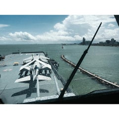 Photo taken at Beach by the USS Lexington by Mike T. on 9/2/2015