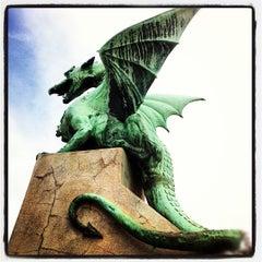 Photo taken at Zmajski most / Dragon Bridge by geheimtip ʞ. on 9/28/2012