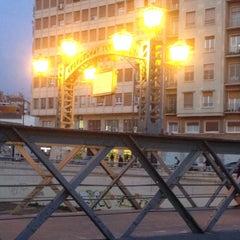 Photo taken at Puente de los Alemanes by Abraham N. on 3/21/2014