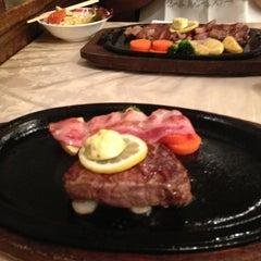 Photo taken at 松阪肉 石かわ 鵜の森店 by Yamazaki Y. on 8/24/2013