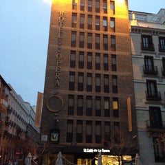 Photo taken at Hotel Opera Madrid by Sangwoong Y. on 1/17/2015