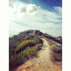 Photo taken at Fat Girl Hill at Runyon Canyon by Alex T. on 2/4/2014