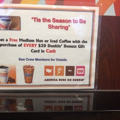 Photo taken at Dunkin' Donuts by Patrice M. on 11/27/2013