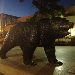 Photo taken at UCLA Bruin Statue by Yusi X. on 3/23/2013