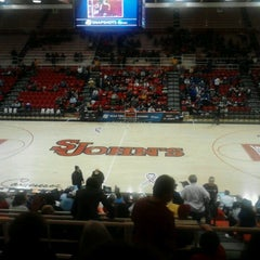 Photo taken at Carnesecca Arena by Jeffery G. on 3/24/2013