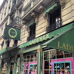 Photo taken at Ladurée by Justin L. on 2/10/2013