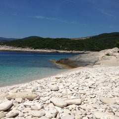 Photo taken at Srebrena beach by Boris R. on 6/14/2013