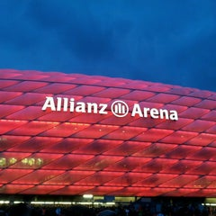 Photo taken at Allianz Arena by Markus F. on 4/16/2013