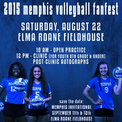 Photo taken at Elma Roane Fieldhouse by Memphis Tigers on 8/13/2015