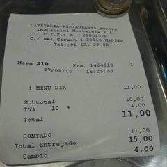 Photo taken at Cafetería-Restaurante Hotel Europa by Mario R. on 9/27/2015