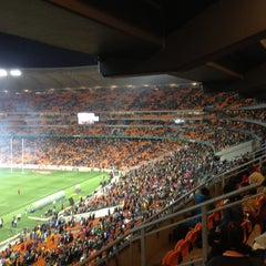 Photo taken at FNB Stadium by Goodnews C. on 9/21/2013