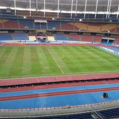 Photo taken at Stadium Nasional Bukit Jalil by Achok K. on 12/1/2012