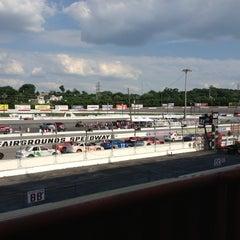 Photo taken at Nashville Fairgrounds Speedway by Kristie M. on 6/8/2013