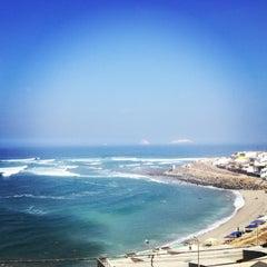 Photo taken at Playa Señoritas by Maria Gracia V. on 3/24/2013