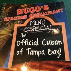 Photo taken at Hugo's Spanish Restaurant by Curtis E. on 1/24/2013