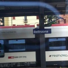 Photo taken at Stazione di Bellinzona by Martin C. on 7/2/2014