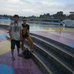 Photo taken at Hairos Indah Waterpark by Egi Tyo K. on 1/5/2014