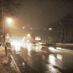 Photo taken at Medisinski Bus Stop by Dmitry R. on 1/13/2014