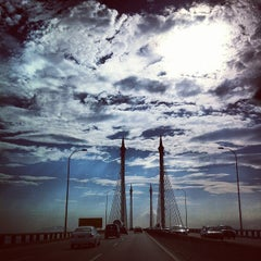 Photo taken at Penang Bridge by Liz W. on 2/15/2013