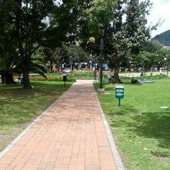 Photo taken at Parque de la 93 by Cristian Ñ. on 9/20/2012