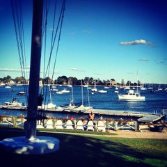 Photo taken at Larchmont Yacht Club by Sloane B. on 9/23/2012