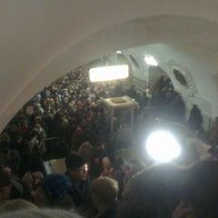 Photo taken at Метро Киевская, Филёвская линия (metro Kiyevskaya, line 4) by Станислав З. on 12/26/2012