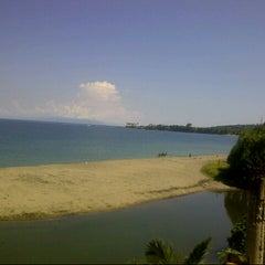 Photo taken at Pantai Senggigi by Nadia S. on 5/16/2013