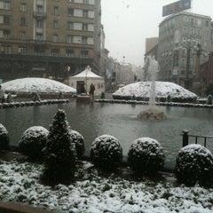 Photo taken at Piazza San Babila by Luca R. on 2/11/2013